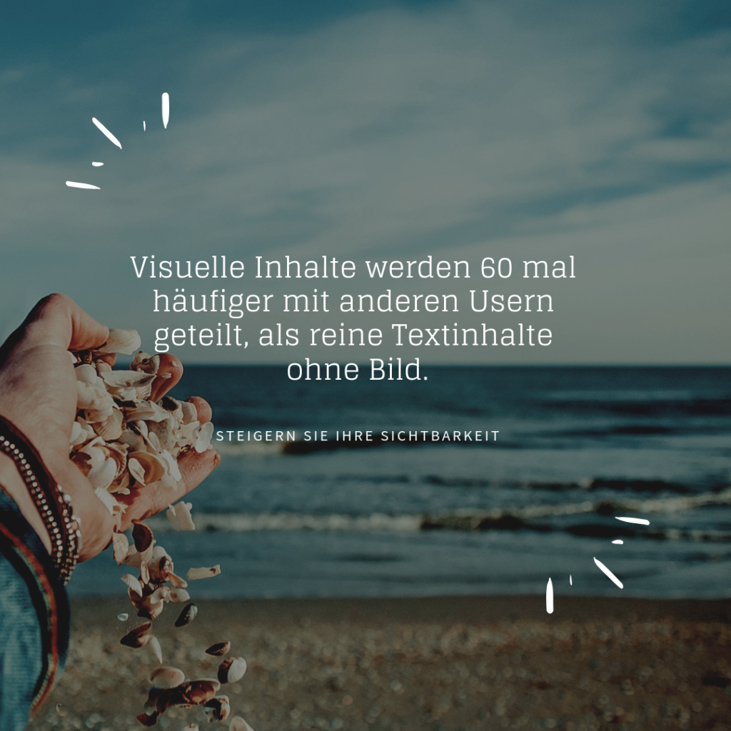 Visuelle Inhalte fesseln User